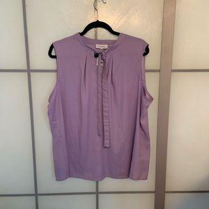 NWT Calvin Klein Lavender Sleeveless Career Top